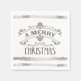 Merry little Christmas napkins Disposable Napkins
