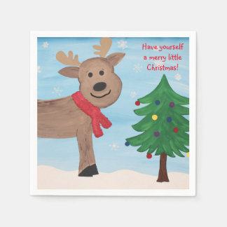 Merry Little Christmas Napkins Paper Napkins