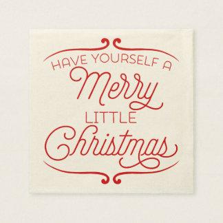 Merry Little Christmas Paper Napkin