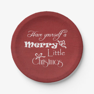 Merry Little Christmas 7 Inch Paper Plate