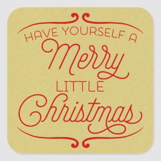 Merry Little Christmas Square Sticker