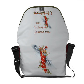 Merry Little Christmas Stocking Courier Bags