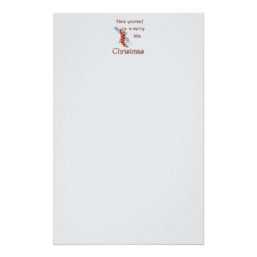 Merry Little Christmas Stocking Customized Stationery