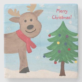 Merry Little Christmas Stone Coaster