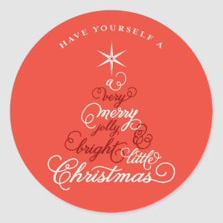 Merry Little Christmas Tree Baby Holiday Sticker