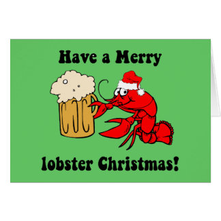 Merry lobster Christmas Card