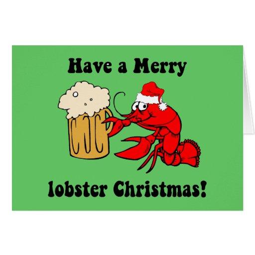 Merry lobster Christmas Card