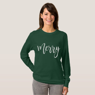 Merry Long Sleeve Shirt - Christmas Gift Green