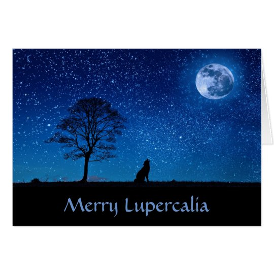 Merry Lupercalia (wolf) Card