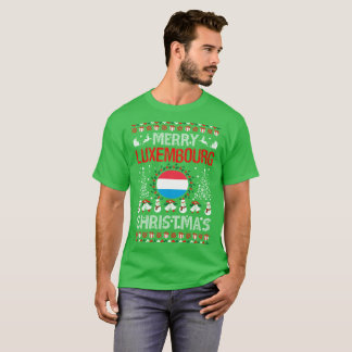 Merry Luxembourg Country Christmas Ugly Sweater