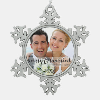 Merry & Married Our First Christmas Ornament