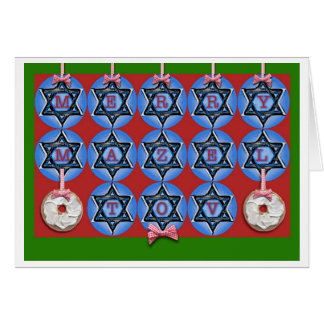 Merry Mazel Tov Chrismukkah Greeting Card