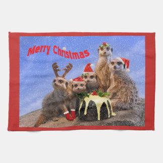 Merry Meerkats Kitchen Towel