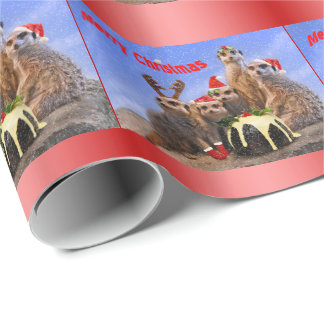 Merry Meerkats Wrapping Paper - Christmas