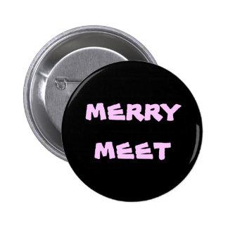 merry meet 6 cm round badge