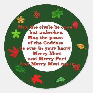 Merry Meet Classic Round Sticker