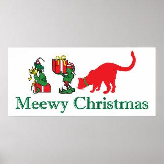 Merry Meewy Christmas Print