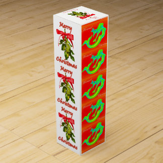 merry mermaid christmas mistletoe wine gift box