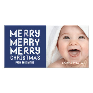 MERRY MERRY CHRISTMAS HOLIDAY PHOTO CARD