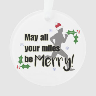 Merry Miles 2.0 Holiday Runners Christmas Ornament