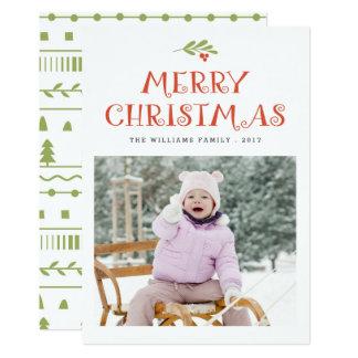 Merry Mistletoe Christmas Photo Cards