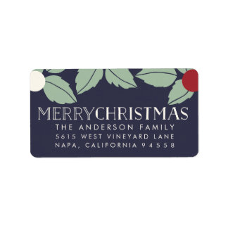 Merry Mistletoe   Oversized Holiday Return Address Label