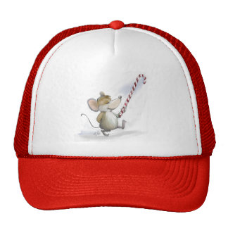 Merry Mouse Moe Red Holiday Hat
