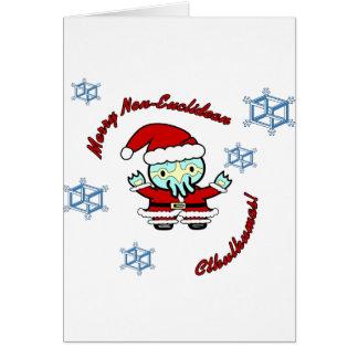 Merry Non-Euclidean Cthulhumas Card