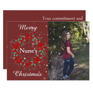 Merry Nurses Christmas Card