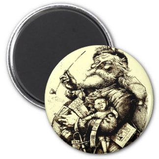 Merry Old Santa Claus Fridge Magnet