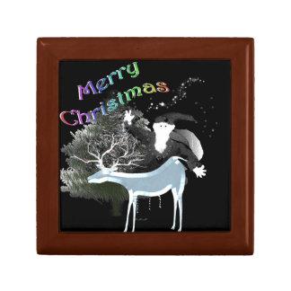 Merry Old Santa Small Square Gift Box