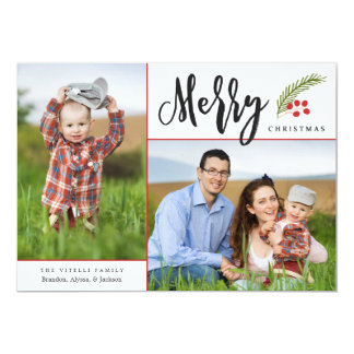 Merry | Photo Holiday Card