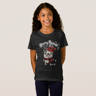 Merry Pigmas Buffalo Plaid T-Shirt