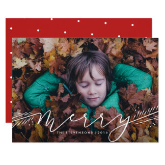 Merry Pines Holiday Photo Card 13 Cm X 18 Cm Invitation Card