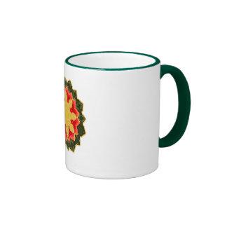 MERRY POINSETTA COFFEE MUG