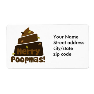 Merry POOPmas Shipping Label