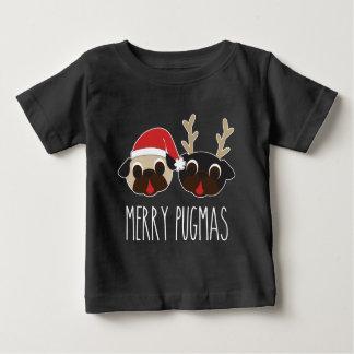 Merry Pugmas Christmas Santa Pug Reindeer Pug Baby T-Shirt