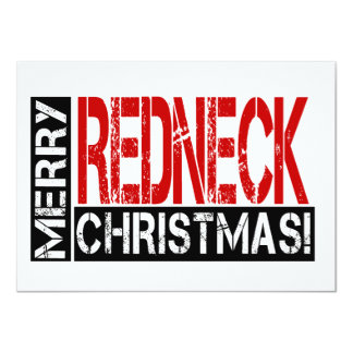 Merry Redneck Christmas! Funny Party Invitation