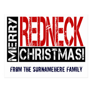 Merry Redneck Christmas Wishes Postcard