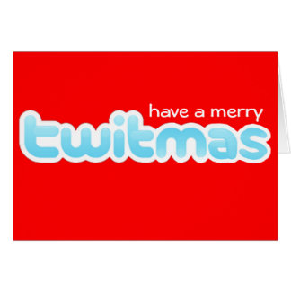 MERRY RETRO CHRISTMAS GREETING CARD RED