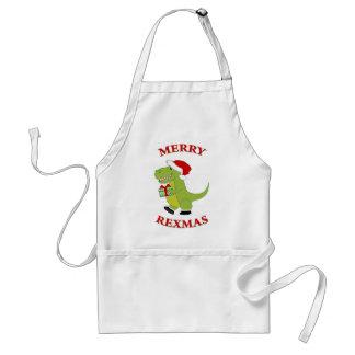 Merry Rexmas T-Rex Aprons