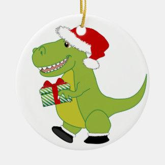 Merry Rexmas T-Rex Christmas Ornament