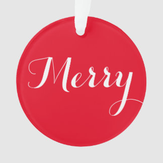 """Merry"" Round Christmas Ornament"