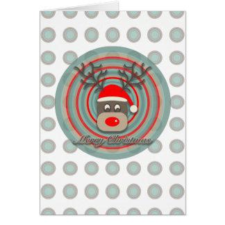 Merry Rudolf Card
