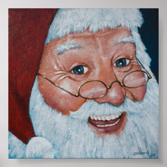 Merry Santa Poster