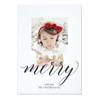 Merry Script Christmas Photo Card