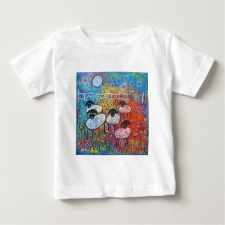 Merry Sheep In The Flowers Baby T-Shirt