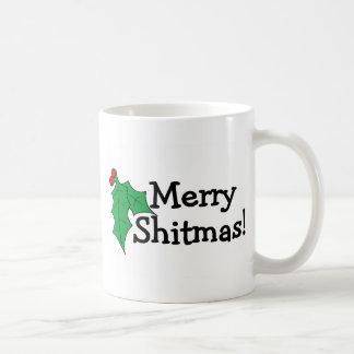 Merry Shitmas Basic White Mug