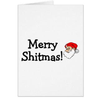 Merry Shitmas Santa Card