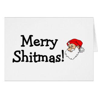 Merry Shitmas Santa Greeting Card